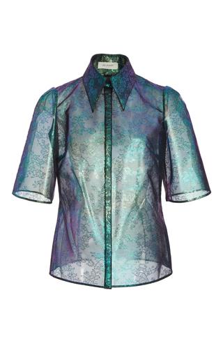 Medium delpozo print silk lace shirt
