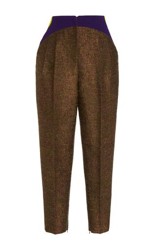 Medium delpozo brown side pleated trousers  2