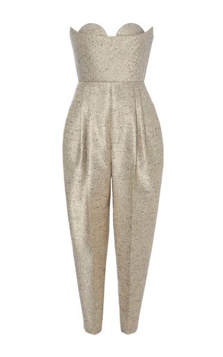 Medium delpozo metallic sweetheart jumpsuit
