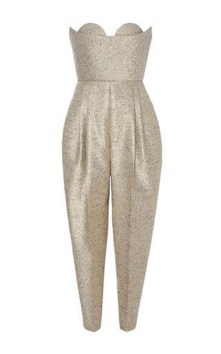 Medium delpozo metallic sweetheart jumpsuit