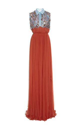 Medium delpozo multi long tulle dress