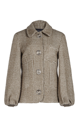 Medium simone rocha khaki sparkle houndstooth jacket