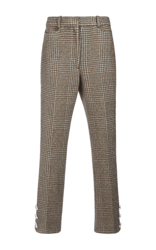 Medium simone rocha khaki sparkle houndstooth trousers