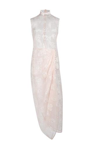 Medium simone rocha nude tinsel embroidery tulip dress