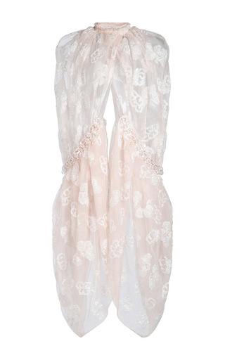 Medium simone rocha pink tinsel embroidery cape