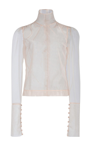 Medium simone rocha tan high neck blouse