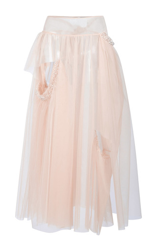 Medium simone rocha tan embellished bite skirt