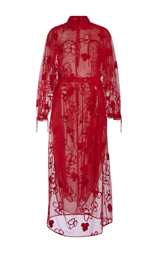 Flower Embroidered Tulle Dress by SIMONE ROCHA Now Available on Moda Operandi
