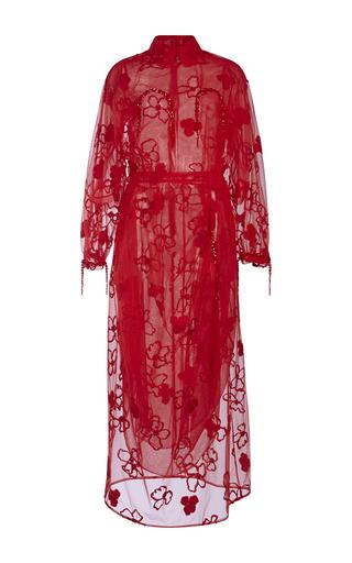 Medium simone rocha red flower embroidered tulle dress