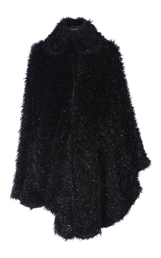 Medium simone rocha black black tinsel cape