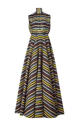 Medium emilia wickstead stripe dorothea short sleeved gown