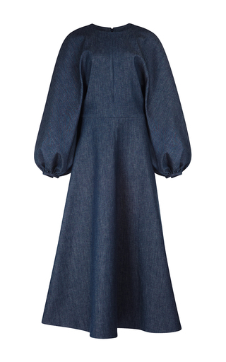 Medium emilia wickstead blue cora raglan sleeved dress