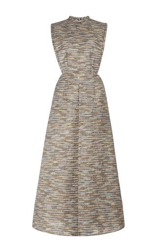 Medium emilia wickstead multi nursey sleeveless midi dress