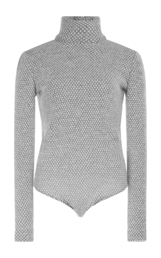 Medium emilia wickstead light grey charlie turtleneck bodysuit