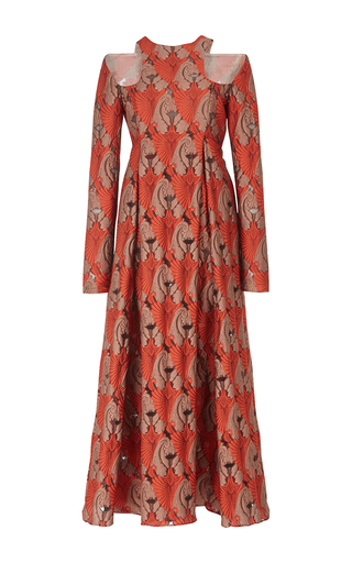 Medium emilia wickstead red georgina cut out midi dress