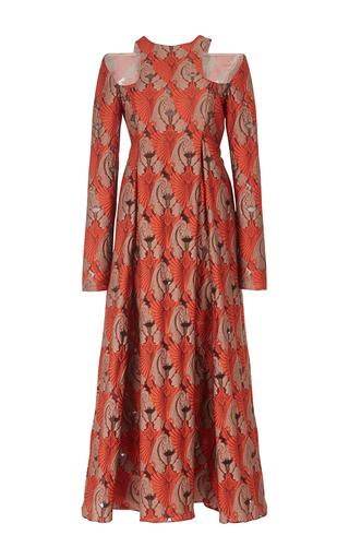 Medium emilia wickstead red georgina cut out midi dress