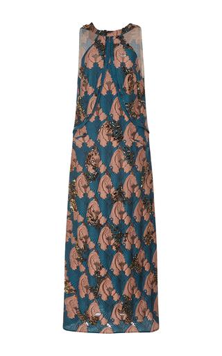Medium emilia wickstead multi sixty embroidered bib dress