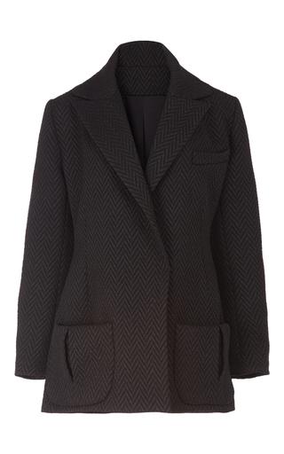 Medium emilia wickstead black tuxedo oversized jacket