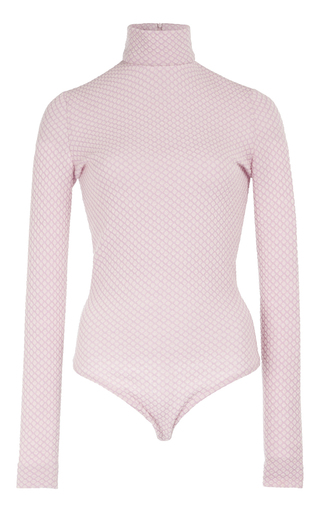 Medium emilia wickstead pink charlie turtleneck bodysuit  3