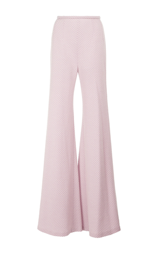 Medium emilia wickstead pink dario highwaisted flared pants