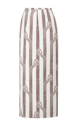 Medium emilia wickstead print lia highwaisted midi skirt
