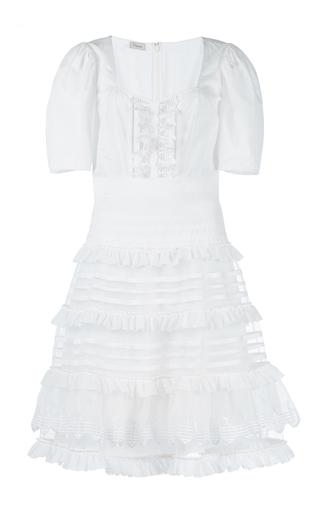 Medium temperley london white sea ruffle dress