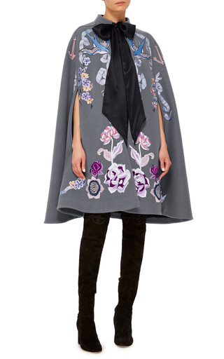 Grey Sail Cape by TEMPERLEY LONDON Now Available on Moda Operandi