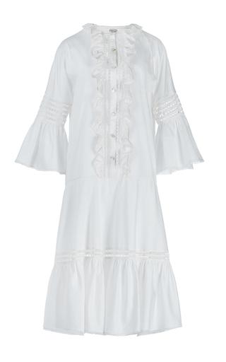Medium temperley london white white morganne cotton bell sleeve dress