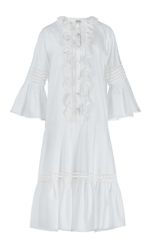 Medium temperley london white white morganne cotton bell sleeve dress