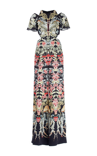 Medium temperley london print victory print cut out jumpsuit
