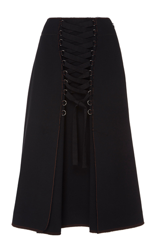 Medium proenza schouler black high waist lace up skirt