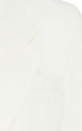 Cream Long Sundry Wool Blazer by SEA Now Available on Moda Operandi