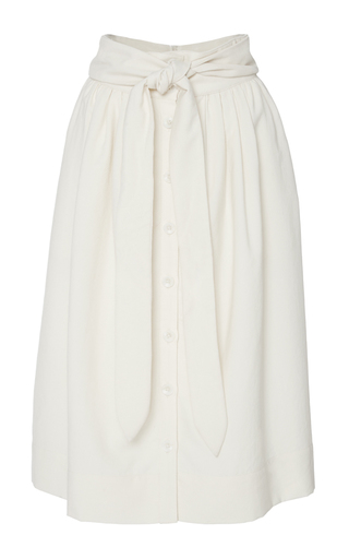 Medium sea off white cream tied sundry wool skirt