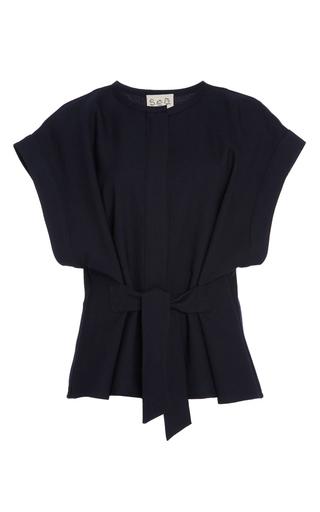 Medium sea navy navy sundry wool tied top