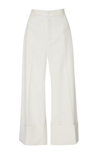 Medium sea off white cream sundry wool cuffed pants