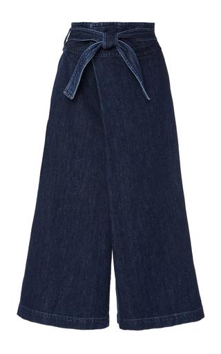 Medium sea dark wash denim fold over jeans