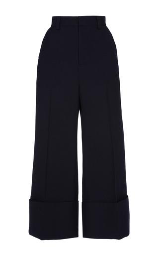 Medium sea navy navy sundry wool cuffed pants