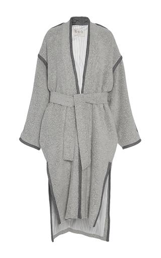 Medium sea light grey gray viscotex legend overcoat