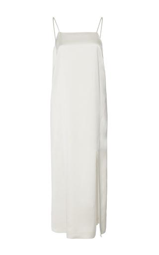 Medium sea ivory satin slip dress