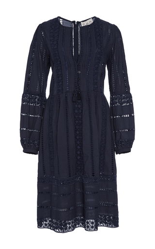 Medium sea navy picnic at hanging rock lace dress
