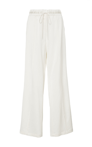 Medium sea ivory satin track pants