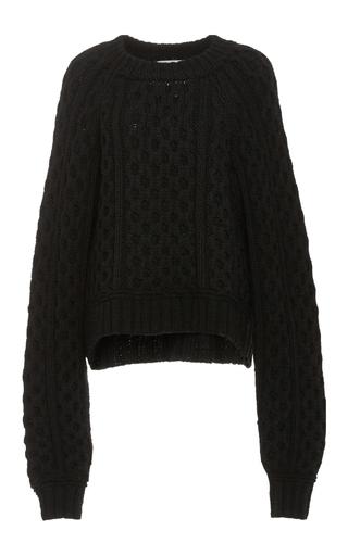 Medium wendelborn black surreal honeycomb sweater