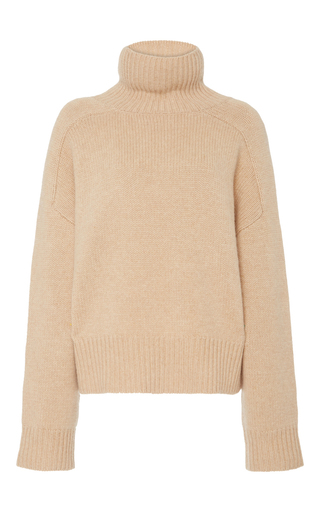 Medium wendelborn nude cashmere funnel knit sweater 2