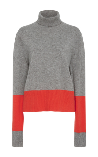 Medium wendelborn grey cashmere colorblock sweater