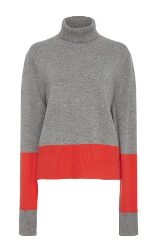 Medium wendelborn grey cashmere colorblock sweater