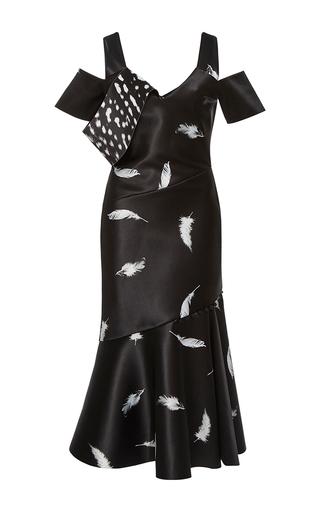 Medium prabal gurung black draped shoulder dress  2