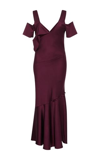Medium prabal gurung purple draped shoulder dress  3