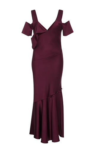 Medium prabal gurung purple draped shoulder dress  3