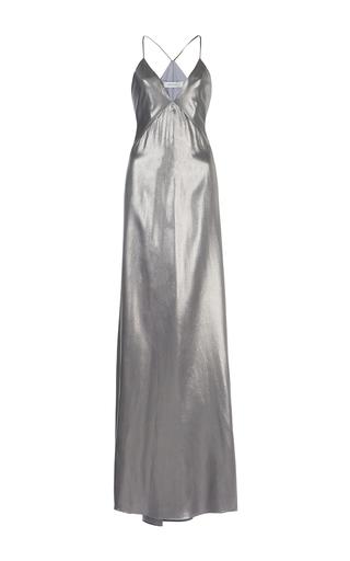 Medium galvan silver liquid silk sheath dress