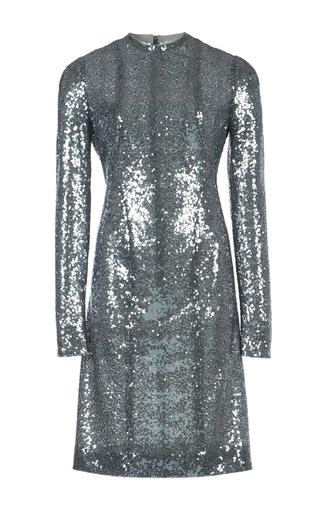 Medium galvan metallic iridescent sequin embellished dress